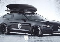 Rain Prisk Designs' awesome render of an S550 Ford Mustang wagon!