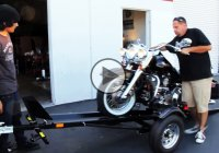 Motorcycle trailer Ace for safely towing your precious ride!