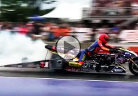 Spiderman sets a speed record with a nitrous motorcycle!!!