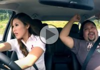 Girl drifting at its finest! Funny prank by Leona Chin!!