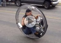 Man Rides a Crazy Monocycle – How Is This Even Possible?