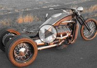 One Of A Kind  – Ford Flathead V8 Powered Trike!