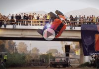 "Adrian Cenni aka ""The Wildman"" does 360 barrel roll with a truck!"