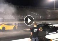 Drag Time! 1968 Dodge Charger vs. Lamborghini Gallardo!