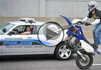 Badass Motorbike Stuntmen vs. Police! Awesome stunts!