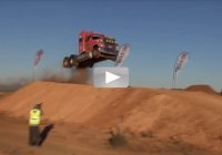 Unbelievable Semi Truck Jump! 101.9 feet! Who hoo!