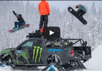 Ken Block with his Ford F-150 Raptortrax having loads of fun in the SNOW!