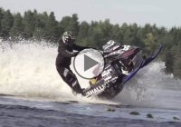 Snowmobile Stunts on Water!!! Who needs snow anyway?