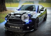 Evil looking, nitrous spitting, Mustang Shelby Cobra!!!