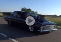 1963 Plymouth Valiant sporting a 528 Hemi, Blown running on Alcohol!