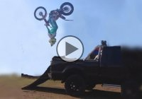 Try To Load Your BIke On A Truck With A Backflip – This Guy Did!