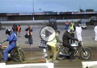 Tug of War between motorcycles! Things can go wrong!
