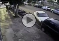 Woman Goes On A Rampage – Hits 13 Motorbikes And 1 Car!!