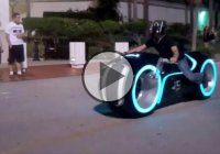 The Tron Light Cycle From Parker Brothers Choppers!!