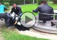 Motorcycle-Powered Merry-Go-Round Hilarious Fail!
