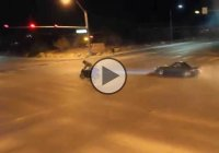 Illegal Street Drifters Take Over An Intersection On Public Street!!