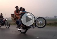 Five Person Motorcycle Wheelie Ride – Like A Boss!!