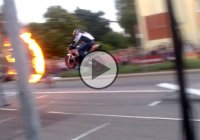 World's First SuperBike Jump Through Ring Of Fire!!
