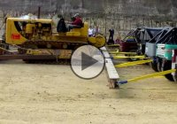 Caterpillar D8 vs. 20 Toyota Landcruisers J40 Tug of War!