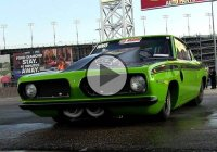 Drag strip monster – Twin Turbo 1969 Plymouth Barracuda!