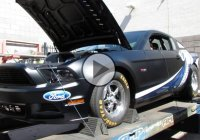 A 2014 Ford Super Cobra Jet 5.0 Supercharged on the dyno!