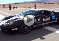 A 2000 HP Twin Turbo Ford GT at the Shift S3ctor Airstrip Attack!