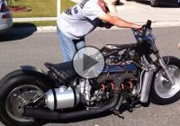 V8 Corvette Engine on a motorcycle! Powerful sound and 200mph speed!