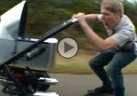 Colin Furze's MEGAPRAM – a pram that goes 50 mph!!!