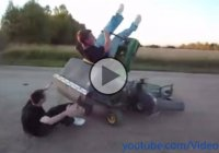 A funny compilation of lawn mower accidents and situations! LOL