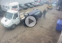 Car loading on a truck epic fail! Facepalmed so hard that I broke my nose!