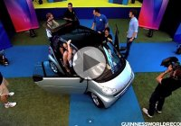 How many people can a smart car fit?  Two?  Not in Australia!