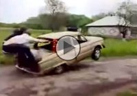 Meanwhile in Russia… Russian-powered Muscle car can do wheelies!