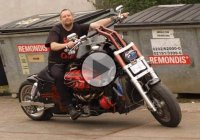 Self Made Motorcycle With 12 Cylinder Aston Martin Engine!