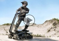 DTV Shredder – combination of tank, skateboard and motocross!