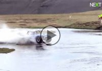 Hydroplaning on a 1001 feet long river in Iceland with an off-road buggy!