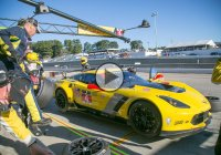 Chevrolet Corvette C7R turning heads on the track!