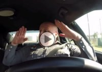 "The funniest police officer jamming to the song ""Shake it off""!"