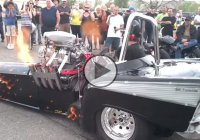 An old Cadillac beast with 3000 HP hemi shoots fire like a dragon!