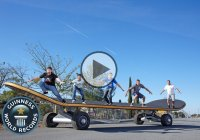 The biggest skateboard in the world – 11.14m long; 2.63m wide; 1.10m tall!