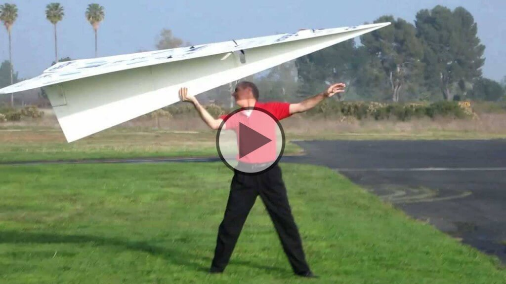 The Worlds Largest Rc Paper Plane 140 Inches Long on old airplane radio
