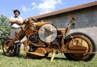 The Wooden Motorcycle – Motorcycle Enthusiast Puts His Wood To Good Use!