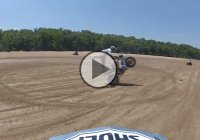 Street Bike Going Wild On Drit – Not Even The ATV's Or The Dirt Bikes Can Touch It!!