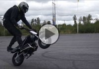 Crazy Stunts Performed With A Mini Dirtbike!
