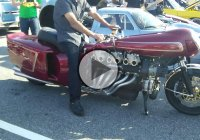 Completely Custom Motorcycle With A V12 LAMBORGHINI Engine Mounted On It!!