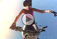 Crazy Girl Is Doing Three Rolling Front Flips With A Dirt Bike!!