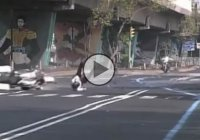 Speed Bump Fail – Cop On Motorcycle Forgets about Speed Bump and Crashes!