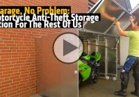 Easy and Accessible Motorcycle Storage – GENIUS!!