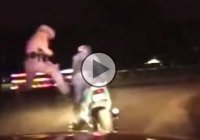 Policeman Kicks Off Motorcyclist After Chase – Was That Really Necessary???