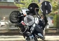 Lifting Weight While Doing A Wheelie – Insane Stunt!!