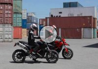 The Ducati Game Of HYPE – Two Talented Stunt Riders, Two Ducati Hypermotards And Only One Hamburger?